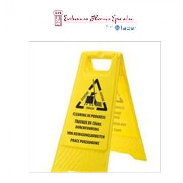Señal de aviso de tareas de limpieza